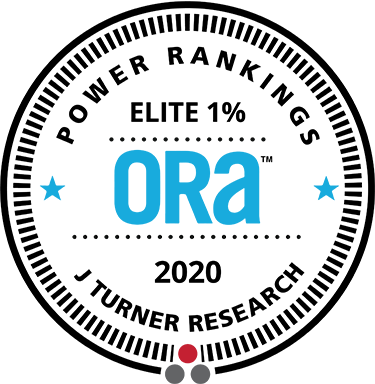 2020 ORA Elite 1% Award from J Turner Research